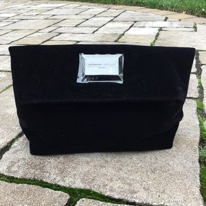 Giorgio Armani Black Velvet Cosmetic Travel Clutch